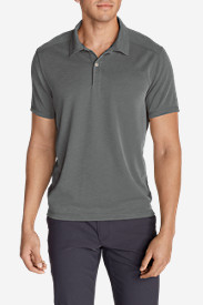 Gray Polo Shirts for Men: Men's Contour Performance Slub Polo Shirt