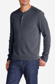 Blue Shirts for Men: Men's Contour Long-Sleeve Henley Shirt