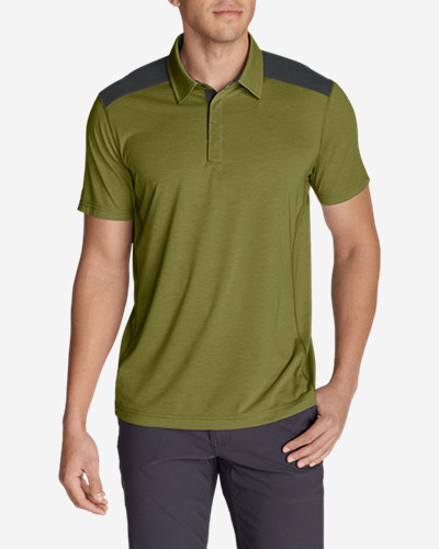 Green Shirts for Men: Men's Bluewing Short-Sleeve Polo Shirt