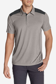 Gray Polo Shirts for Men: Men's Bluewing Short-Sleeve Polo Shirt