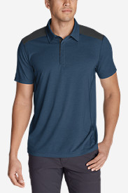 Blue Shirts for Men: Men's Bluewing Short-Sleeve Polo Shirt