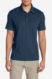 Blue Shirts for Men: Men's Lookout Short-Sleeve Polo Shirt - Solid
