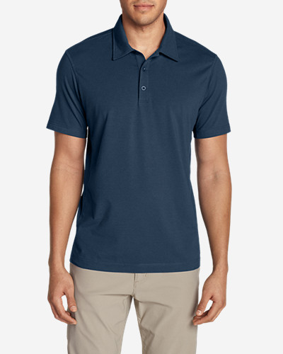 Big & Tall Shirts for Men: Men's Lookout Short-Sleeve Polo Shirt - Solid