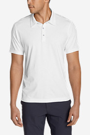Spandex Polo Shirts for Men: Men's Lookout Short-Sleeve Polo Shirt - Solid
