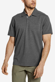 Gray Polo Shirts for Men: Men's En Route Short-Sleeve Polo Shirt