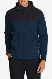 Blue Jackets: Men's Firelight Hybrid Full-Zip Hoodie II