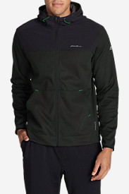Water Resistant Jackets for Men: Men's Firelight Hybrid Full-Zip Hoodie II