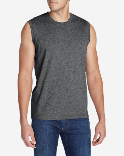 Big & Tall Shirts for Men: Men's Classic Fit Sleeveless Legend Wash T-Shirt