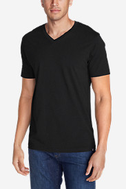 Black Shirts for Men: Men's Legend Wash Short-Sleeve V-Neck T-Shirt - Classic Fit