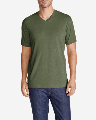 Green Shirts for Men: Men's Legend Wash Short-Sleeve V-Neck T-Shirt - Classic Fit