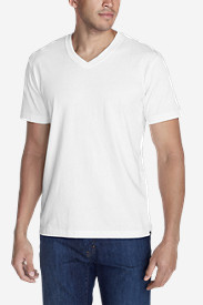 White Big & Tall Tshirts for Men: Men's Legend Wash Short-Sleeve V-Neck T-Shirt - Classic Fit