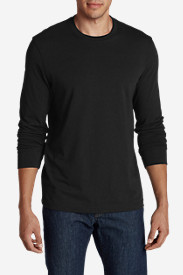 Black Shirts for Men: Men's Legend Wash Long-Sleeve T-Shirt - Slim Fit