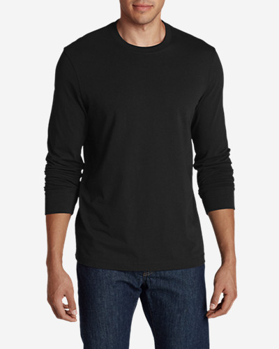 Men's Legend Wash Long Sleeve T Shirt   Slim Fit by Eddie Bauer