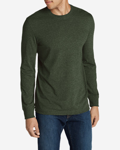 Green Shirts for Men: Men's Legend Wash Long-Sleeve T-Shirt - Slim Fit