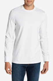 White Big & Tall Tshirts for Men: Men's Legend Wash Long-Sleeve T-Shirt - Slim Fit