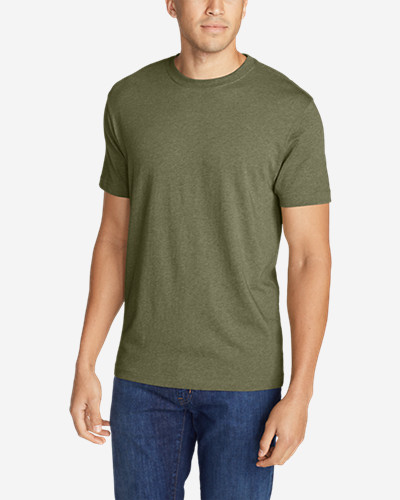 Green Shirts for Men: Men's Legend Wash Short-Sleeve T-Shirt - Classic Fit