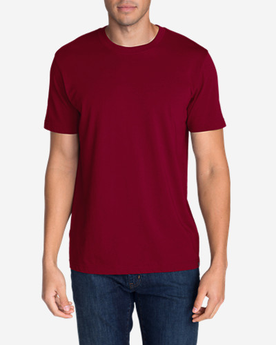 Red Big & Tall Tshirts for Men: Men's Legend Wash Short-Sleeve T-Shirt - Classic Fit