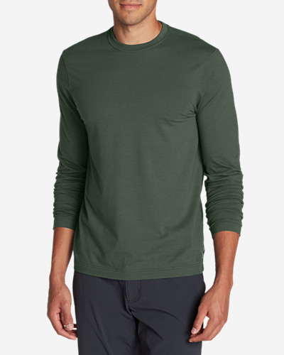 Green Shirts for Men: Men's Lookout Long-Sleeve T-Shirt - Solid