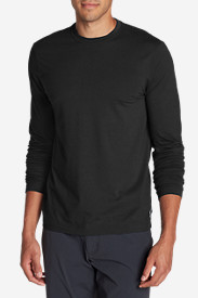 Black Shirts for Men: Men's Lookout Long-Sleeve T-Shirt - Solid