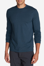 Blue T-Shirts for Men: Men's Lookout Long-Sleeve T-Shirt - Solid