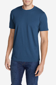 Blue Shirts for Men: Men's Legend Wash Short-Sleeve T-Shirt - Slim Fit