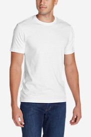White Big & Tall Tshirts for Men: Men's Legend Wash Short-Sleeve T-Shirt - Slim Fit