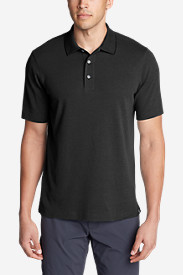 Black Shirts for Men: Men's Voyager II Performance Short-Sleeve Polo Shirt - Solid