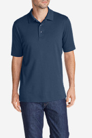 Blue Shirts for Men: Men's Voyager II Performance Short-Sleeve Polo Shirt - Solid