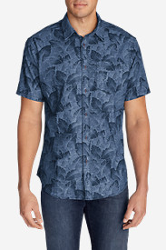Blue Shirts for Men: Men's Grifton Short-Sleeve Shirt - Print