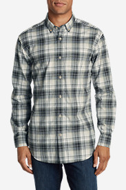 Twill Shirts for Men: Men's Classic Signature Twill Long-Sleeve Shirt - Pattern
