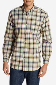Comfortable Shirts for Men: Men's Classic Signature Twill Long-Sleeve Shirt - Pattern