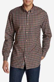 Big & Tall Shirts for Men: Men's Classic Signature Twill Long-Sleeve Shirt - Pattern