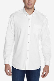 Long Sleeve Shirts for Men: Men's Signature Twill Classic Fit Long-Sleeve Shirt - Solid