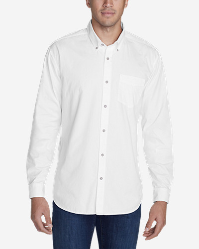 Big & Tall Shirts for Men: Men's Signature Twill Classic Fit Long-Sleeve Shirt - Solid