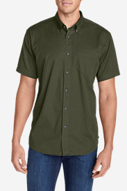 Twill Shirts for Men: Men's Signature Twill Classic Fit Short-Sleeve Shirt - Solid