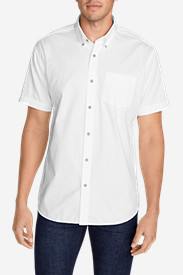 Comfortable Shirts for Men: Men's Signature Twill Classic Fit Short-Sleeve Shirt - Solid