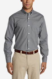 Men's Wrinkle-Free Pinpoint Oxford Classic Fit Long-Sleeve Shirt - Seasonal Pattern