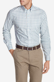 Shirts for Men: Men's Wrinkle-Free Pinpoint Oxford Classic Fit Long-Sleeve Shirt - Seasonal Pattern