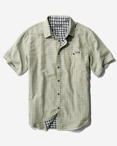 Green Shirts for Men: Men's Treeline Double-Weave Shirt