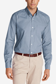 Travel Shirts for Men: Men's Wrinkle-Free Long-Sleeve Sport Shirt