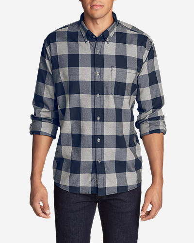 Men's Eddie's Favorite Flannel Classic Fit Shirt   Plaid by Eddie Bauer