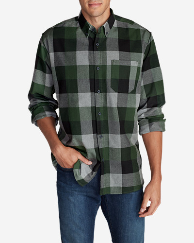 Green Shirts for Men: Men's Eddie's Favorite Flannel Classic Fit Shirt - Plaid