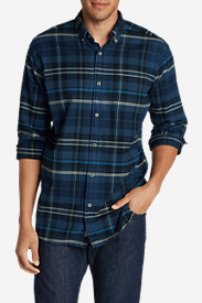 Blue Shirts for Men: Men's Eddie's Favorite Flannel Classic Fit Shirt - Plaid