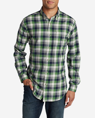 Green Shirts for Men: Men's Wild River Lightweight Flannel Shirt