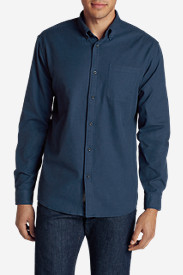 Blue Shirts for Men: Men's Eddie's Favorite Flannel Classic Fit Shirt - Solid