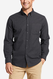 Long Sleeve Shirts for Men: Men's Eddie's Favorite Flannel Classic Fit Shirt - Solid