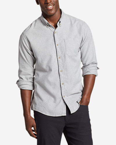 Men's Eddie's Favorite Flannel Classic Fit Shirt   Solid by Eddie Bauer