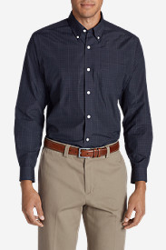 Blue Shirts for Men: Men's Wrinkle-Free Long-Sleeve Sport Shirt