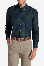 Multicolored Shirts for Men: Men's Wrinkle-Free Long-Sleeve Sport Shirt