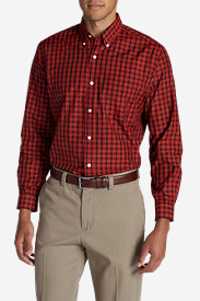 Red Shirts for Men: Men's Wrinkle-Free Long-Sleeve Sport Shirt